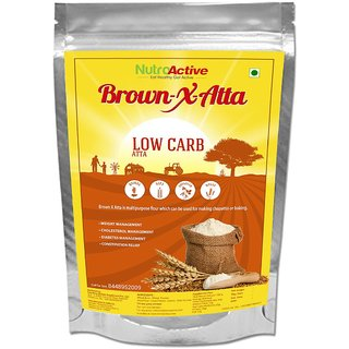 NutroActive BrownXatta, Low Carb keto friendly flour - 900 gm