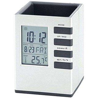 6th Dimensions Digital Plastic Square Table Clock