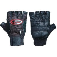Leathrette Bike Riding Gloves with Padded Palm Support  Net Upside