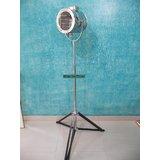 NAUTICAL MARINE SPOT SEARCHLIGHT BEAUTIFUL FLOOR LAMP WITH TRIPOD STAND,