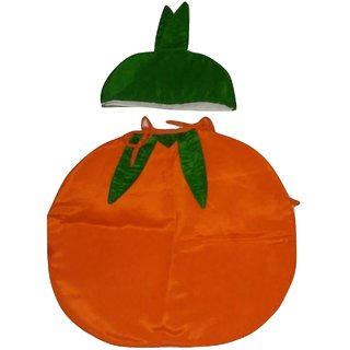 WTR Orange Fruit Dress With Jumpsuit For Fancy Dress Competitions School Functions Birthday Gift 3 To 4 Years