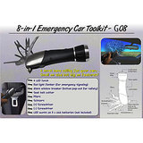 8-in-1 Emergency Car Toolkit With 4 LED Torch