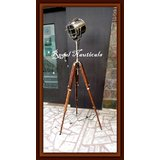 Designers Marine Searchlight Authentic Spotlight With Mention Tripod Stand Lamp