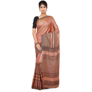 Aradhya Fashion Women's Printed Jaquard Pink Saree
