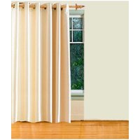 Deal Wala 1 Piece Of Cream Color Eyelet Door Curtain - Vip202