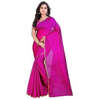Women's Cotton Silk Saree Without Blouse