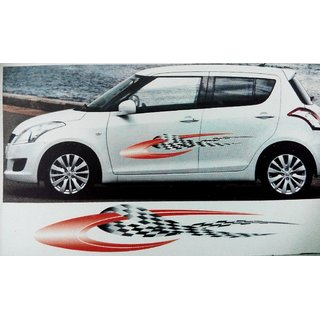 Set Car Graphics  Side Decal Vinyl Decal Body Sticker For - Car body graphics for alto