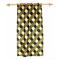 Deal Wala 1 Piece Of Box Design Green Eyelet Door Curtain - Vip215