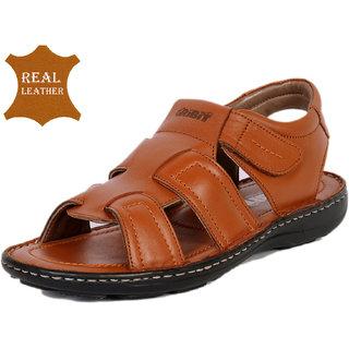 6143307c7c01 Buy RiBiT Men s Handmade Stitch Down leather Gust Tan Sandals Online ...