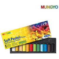 Mungyo Soft Pastel For Artist - 12 Half Length Colors (Pack Of 3 Sets)