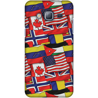 Amzer Designer Case - Flags United For Samsung GALAXY J3 2016 SM-J320F