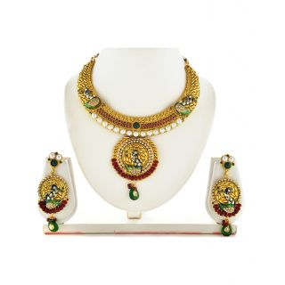 Asian Pearls & Jewels Beautiful Kundan Necklace Set