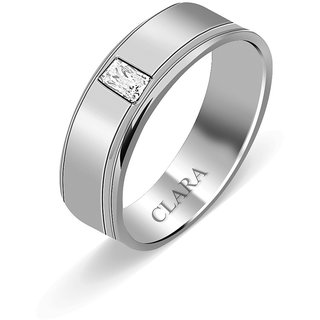 Clara Sterling Silver Swarovski The Lino Men Ring
