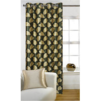 Deal Wala 1 Piece Of Bale Design Green Color Eyelet Door Curtain - Vip257