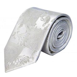Blacksmithh Formal White Woven Tie QMB073_8