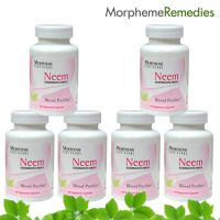 Morpheme Neem Supplements For Skin Care & Acne - 500Mg Extract - 6 Combo Pack
