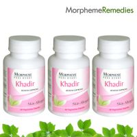 Morpheme Khadir Supplements For Skin Allergies - 500Mg Extract - 3 Combo Pack