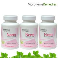 Morpheme Neem Supplements For Skin Care - 500Mg Extract - 3 Combo Pack