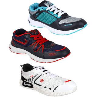 Bersache Men/Boys Combo pack of 3 Sports Running Shoe