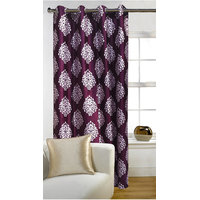 Deal Wala 1 Piece Of Mask Design Wine Color Door Curtain - Vip282