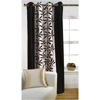 Deal Wala 1 Piece Of Kolaweri Design Brown Color Eyelet Door Curtain - Vip290