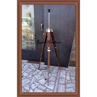 3-Fold-Brass-Corner-Tripod-Floor-Lamp-Stand-Natural-Wo