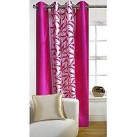 Deal Wala 1 Piece Of Kolaweri Design Pink Color Eyelet Door Curtain - Vip294