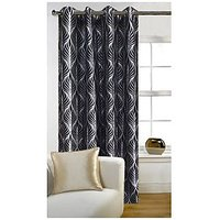 Deal Wala 1 Piece Of Trap Design Black Color Door Curtain -vip295