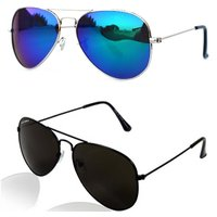 V.S BLUE  BLACK AVIATOR SUNGLASSES COMBO