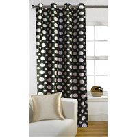 Deal Wala 1 Piece Of Dots Design Dark Green Door Curtain -vip299