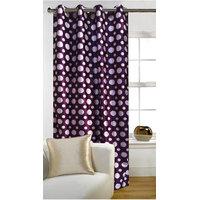 Deal Wala Pack Of 2 Dots Design Purple Eyelet Door Curtain -vip301