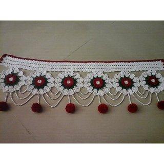 Decorative Woolen And Beads Door Toran White  sc 1 st  Shopclues & Shop White Pearls Designer Door Toran Online - Shopclues