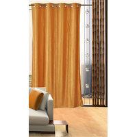 Deal Wala 1 Piece Of Golden Color Eyelet Door Curtain -vip310