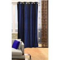 Deal Wala 1 Piece Of Royal Blue Color Eyelet Door Curtain -vip312
