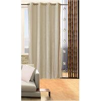 Deal Wala 1 Piece Of Silver Color Eyelet Door Curtain -vip314