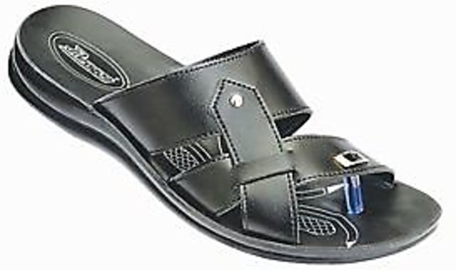 Paragon office chappal for men in black