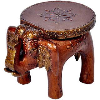Fashion Bizz Designer Wooden Elephant Stool Handicraft Gift