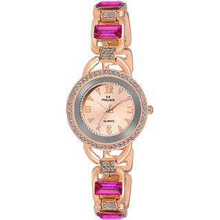 Marco Gold Stainless Steel Analog Watch For Women