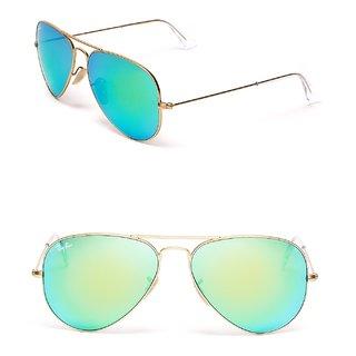 Singham Returns Sunglasses Collection Golden Frame/Green Mirror