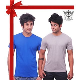 Unisopent Pack Of Royal Blue & Grey Men's Tshirt (CMB RB1GR1S)