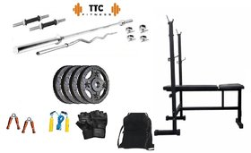 Ttc Fitness Cast Iron Home Gym Combo 10 + 3in1 Bench