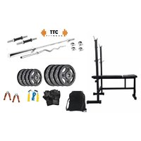 Ttc Fitness Cast Iron Home Gym Combo 30 + 3in1 Bench
