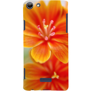 d47589da42e78 Snapdilla Bright Looking Orange Color Lilly Flower Creative Cool 3D Print  Cover For Micromax Canvas Selfie 3 Q348