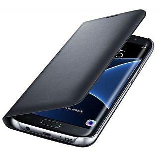 Samsung Galaxy J5 2016 J510 Premium Grade Black Leather Flip Cover