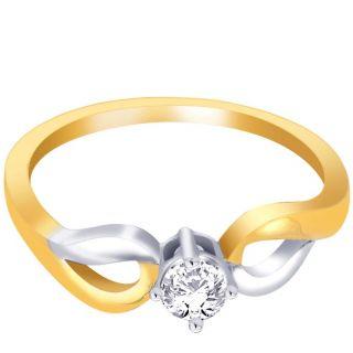 Asmi 18K Yellow Diamond Gold Ring ADR00181 SI-JK