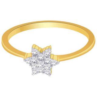 Asmi 18K Yellow Diamond Gold Ring ADR00322 VVS-GH
