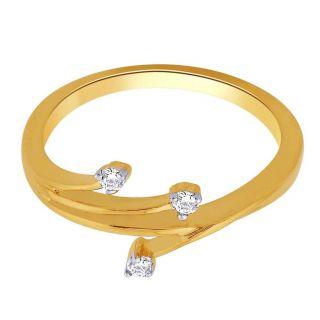 Asmi 18K Yellow Diamond Gold Ring ADR00416 SI-JK