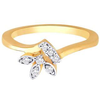 Asmi 18K Yellow Diamond Gold Ring ADR00511 SI-JK