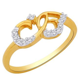 Asmi 18K Yellow Diamond Gold Ring ADR00561 VVS-GH
