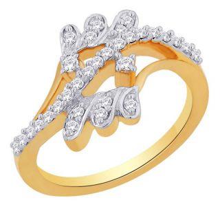 Asmi 18K Yellow Diamond Gold Ring ADR00601 VVS-GH